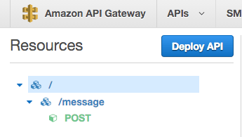 deploy api button