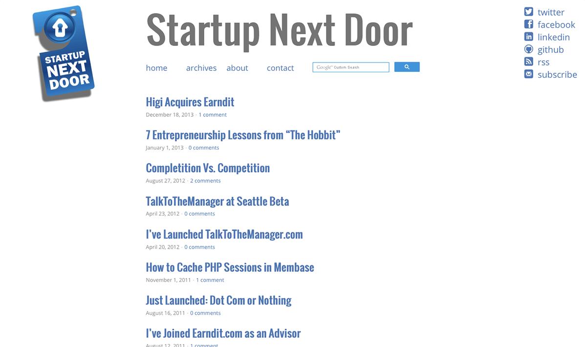 Startup Next Door 2013