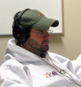 John Washam hard at work - looking scruffy circa 2006