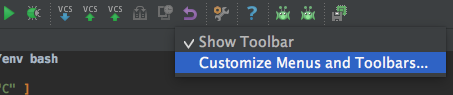 Customize Menus and Toolbars