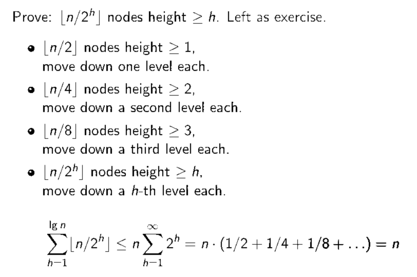 Building a Heap in O(n) Time
