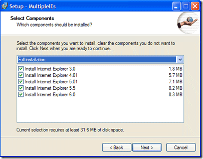 Multiple IE installation