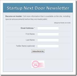 SND Newsletter Signup Form