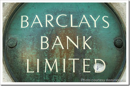 The sign at Barclays Bank Limited