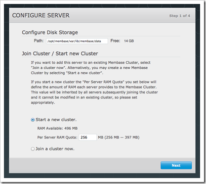 Membase setup:configure server